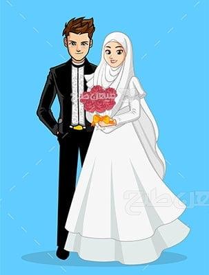 وکتور کاراکتر حجاب در عروسی
