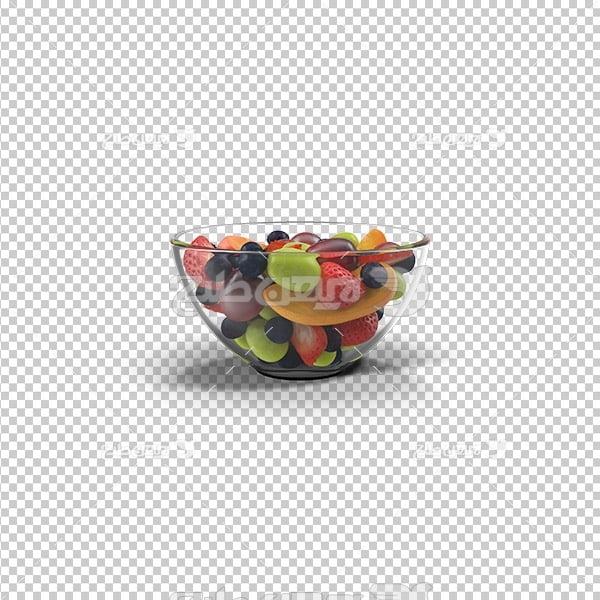 تصویر دوربری سه بعدی ظرف میوه