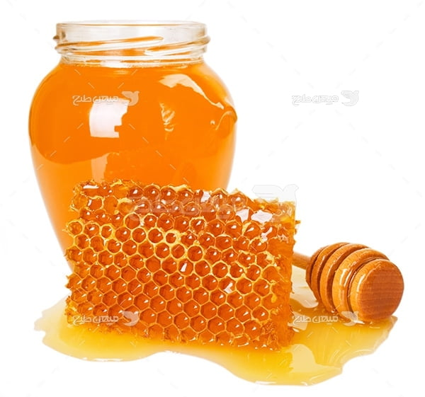 عکس شیشه عسل و موم
