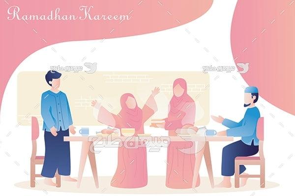 وکتور سفره رمضان
