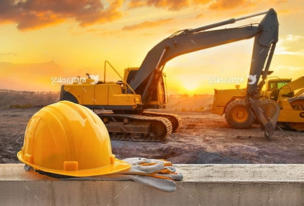 تصویر صنعتی از کلاه ایمنی