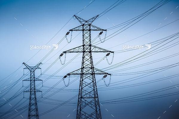 تصویر صنعتی از دکل انتقال برق
