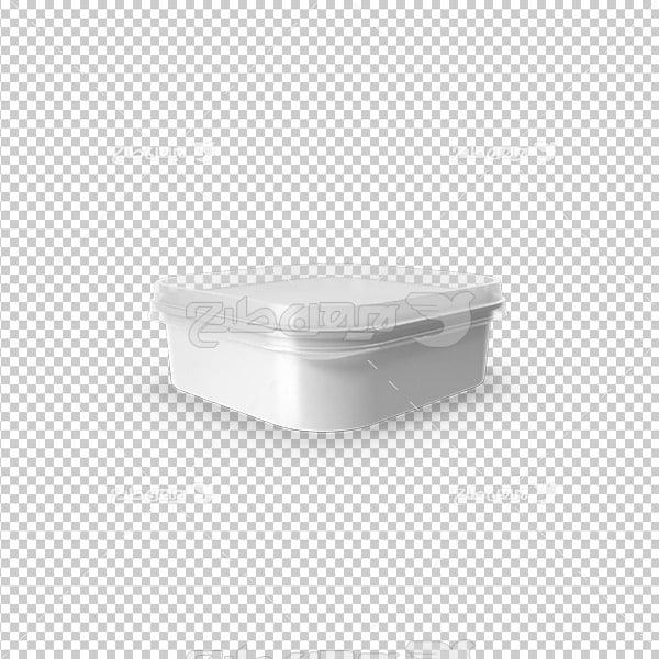 تصویر دوربری سه بعدی بسته بندی پنیر