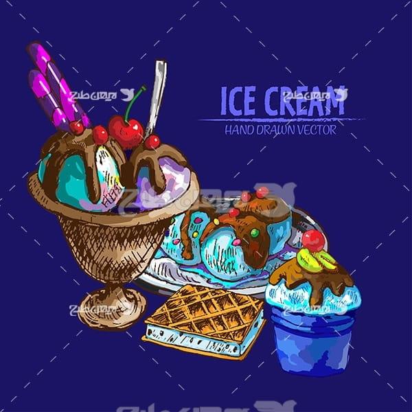 وکتور گرافیک بستنی لیوانی