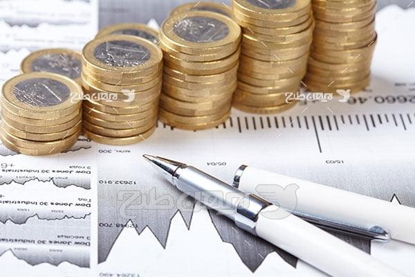 عکس پول و سکه و پیشرفت مالی