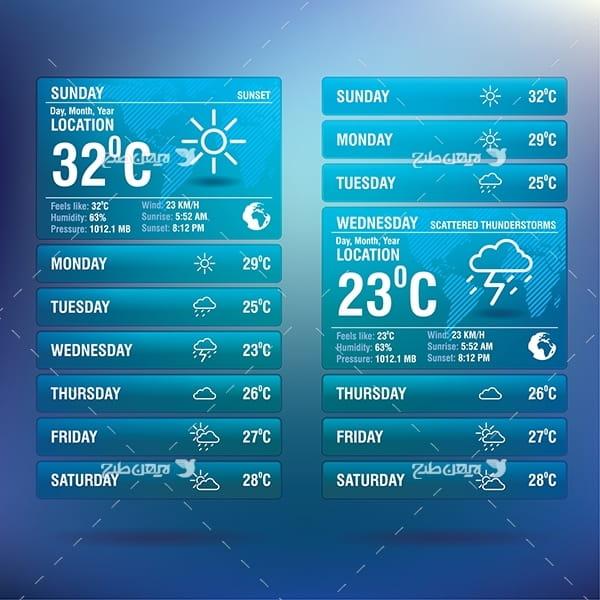 طرح گرافیکی وکتور با موضوع هواشناسی