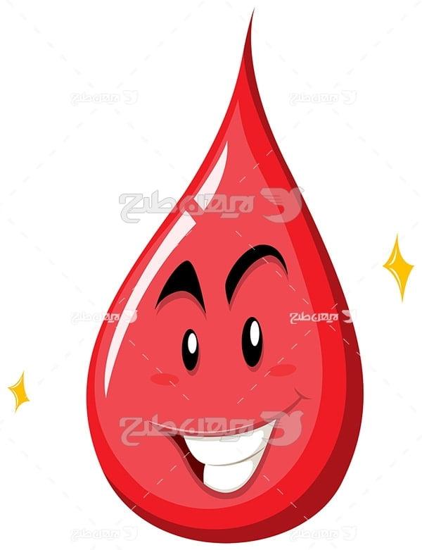 وکتور قطره خون