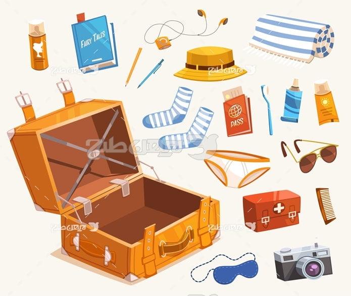 وکتور لوازم مسافرت و چمدان