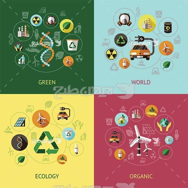 وکتور تولید و ذخیره انرزی از طبیعت و محیط زیست