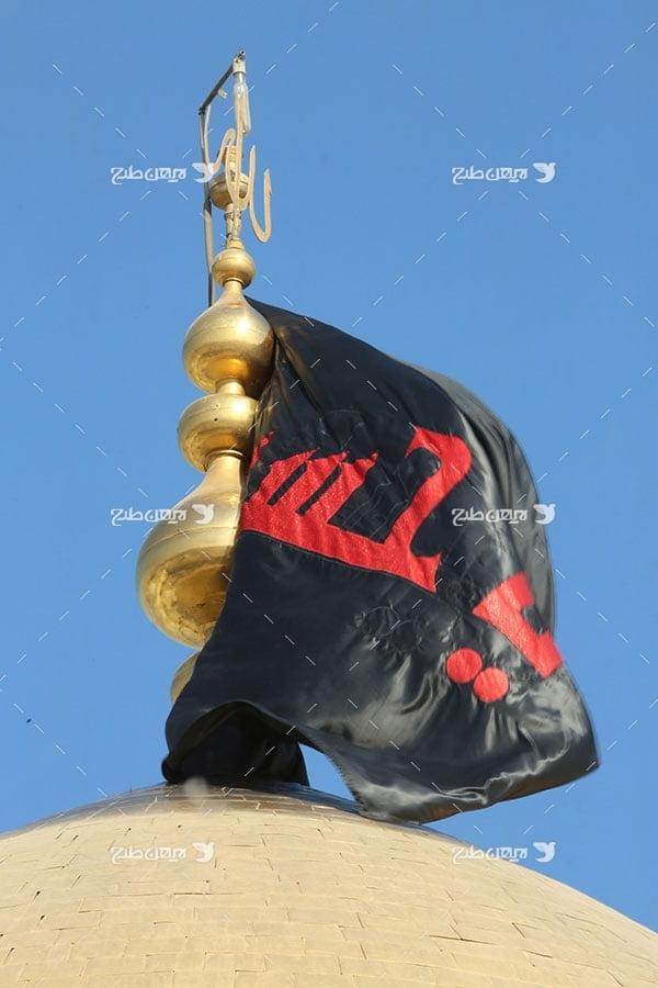 تصویر با کیفیت از حرم،گنبد و ضریح امام حسین علیه السلام و پرچم