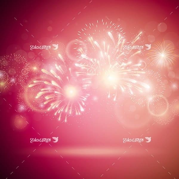وکتور بک گراند انفجار نور و نور افشانی