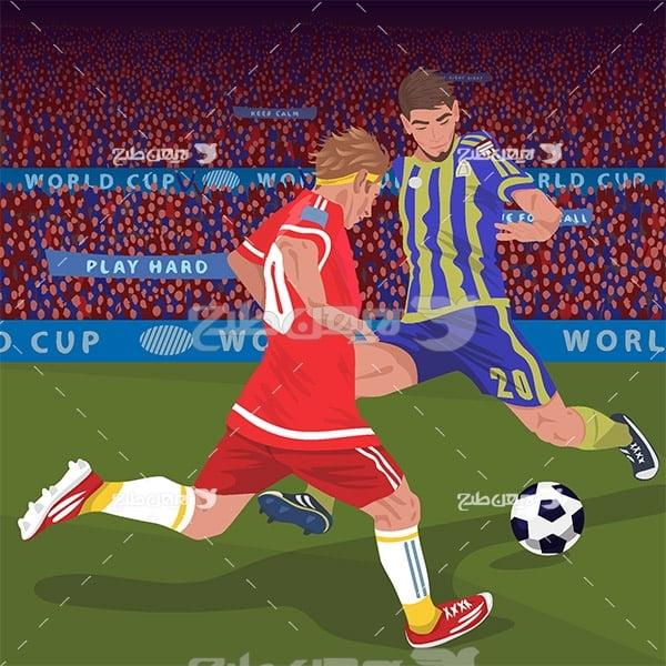 طرح وکتور ورزشی مسابقات فوتبال