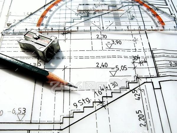 عکس طراحی نقشه ساختمان