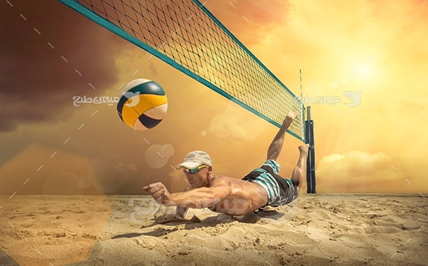 عکس ورزش والیبال ساحلی