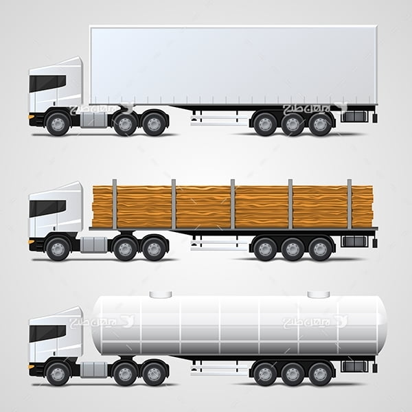 وکتور انواع کامیون و ماشین آلان سنگین