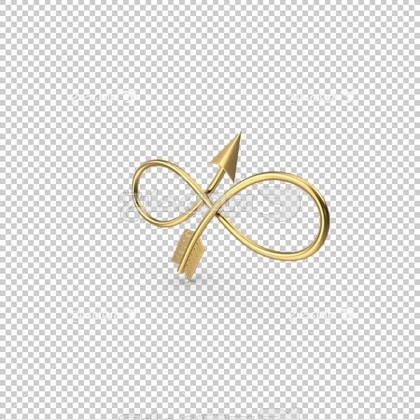 تصویر سه بعدی دوربری فلش و پیکان طلایی