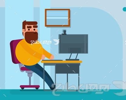وکتور گرافیکی اپراتور کامپیوتر و رایانه