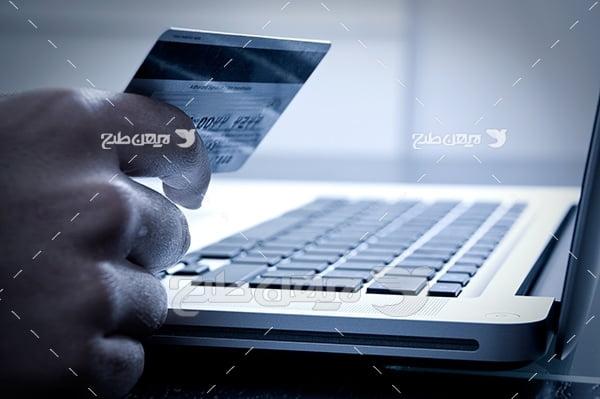 عکس پرداخت الکترونیکی پول با کارت بانکی شتاب
