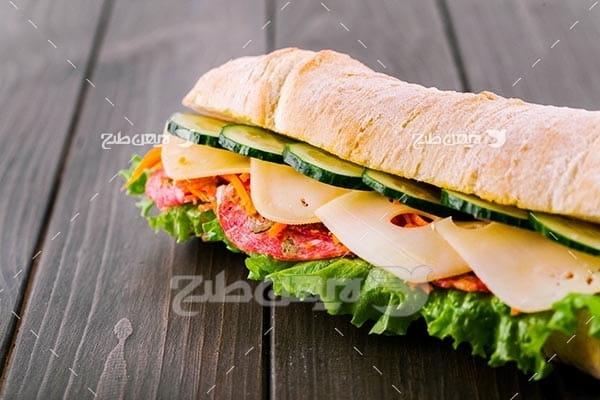 تصویر با کیفیت از ساندویچ