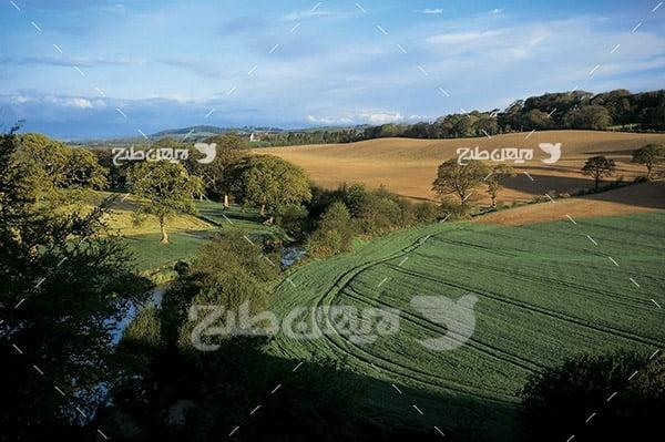 عکس کشاورزی، منظره و مزرعه