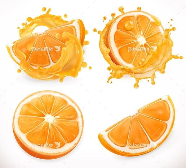 طرح وکتور گرافیکی پرتقال