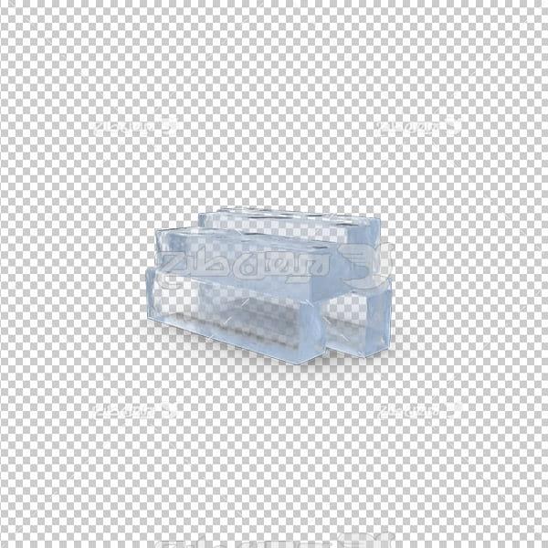 تصویر دوربری سه بعدی قالب یخ
