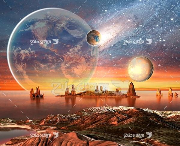 عکس حرکت سیارات فضایی