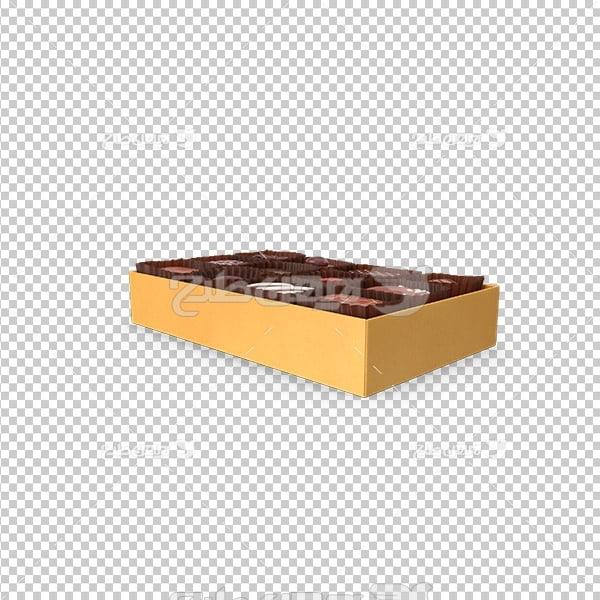 تصویر دوربری سه بعدی جعبه شیرینی