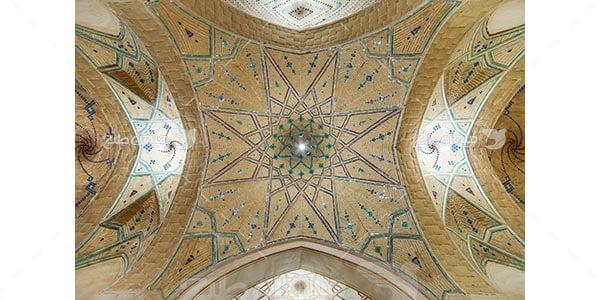 عکس سقف مسجد آقا بزرگ در شهر کاشان
