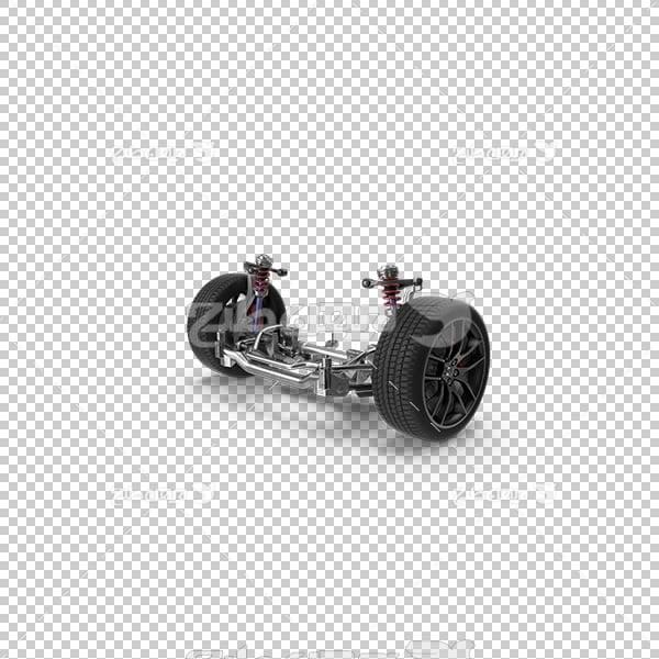 تصویر سه بعدی دوربری چرخ ماشین