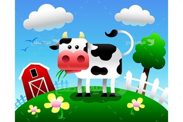 وکتور گاو و مزرعه