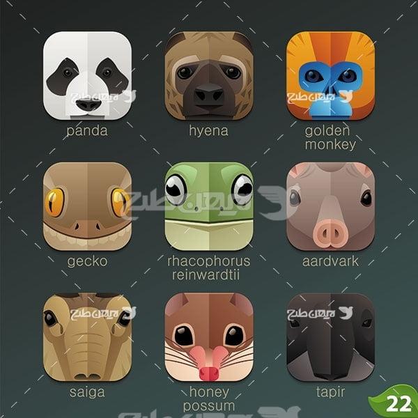 طرح وکتور حیوانات
