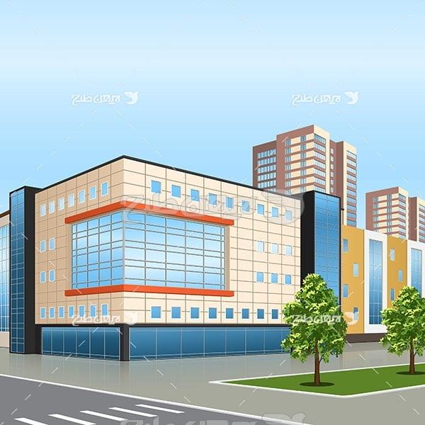 وکتور ساختمان و مرکز تجاری