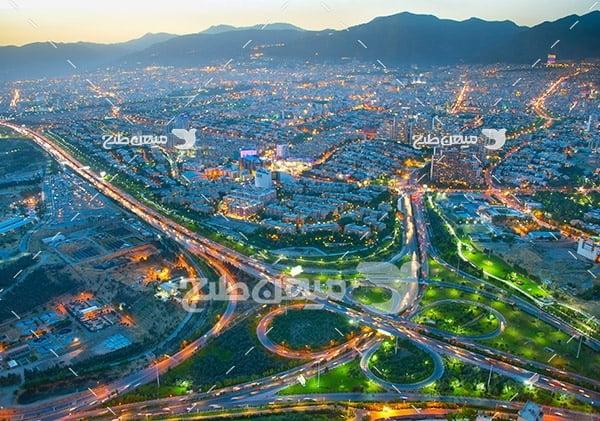 عکس هوایی شهر تهران