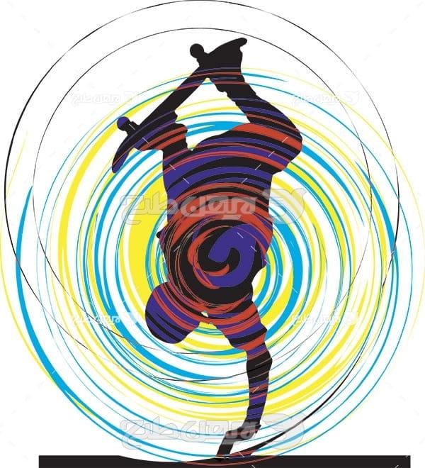 وکتور ورزش اسکیت