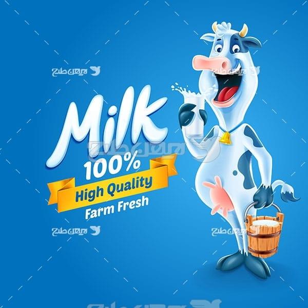 وکتور شیر گاو