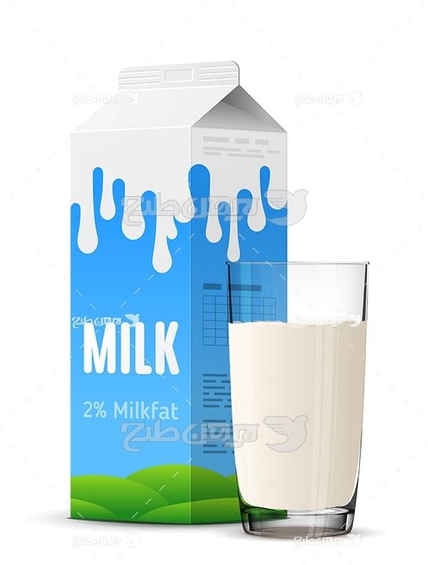 وکتور پاکت شیر