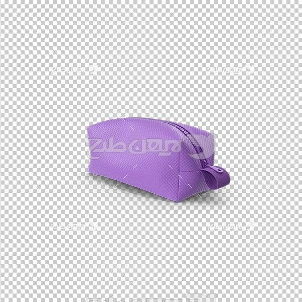 تصویر دوربری سه بعدی پی ان جی کیف لوازم آرایش