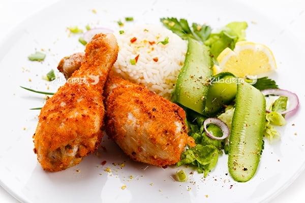 عکس غذای ران مرغ