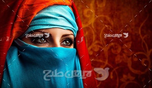 عکس زن مسلمان و حجاب
