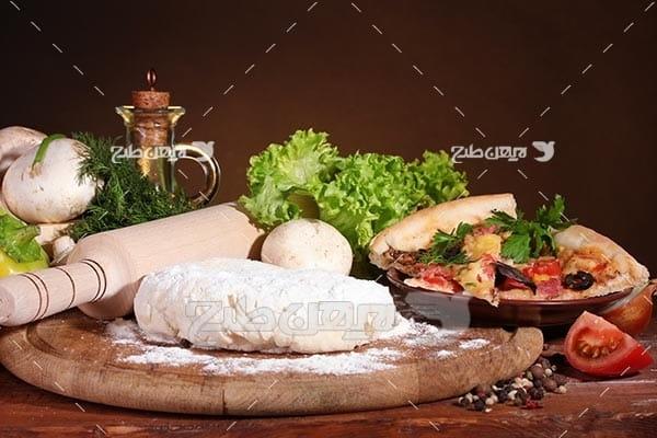 تصویر با کیفیت از خمیر پیتزا