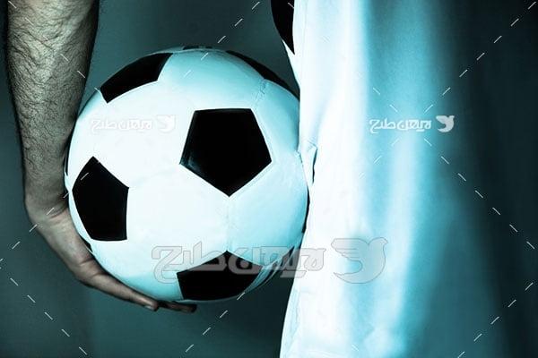 تصویر ورزشی توپ فوتبال