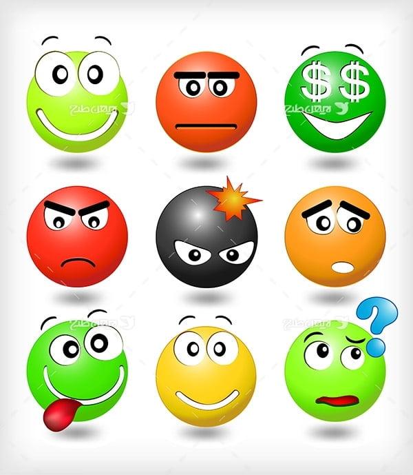 وکتور اموجی در حالات مختلف emoji
