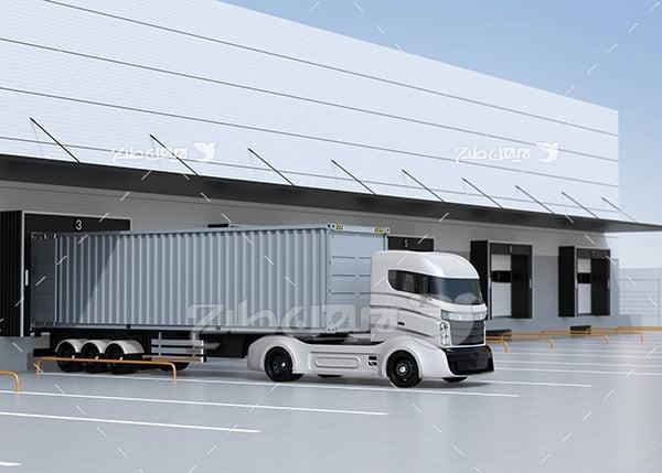 تصویر تریلی و کامیون مدرن و پیشرفته