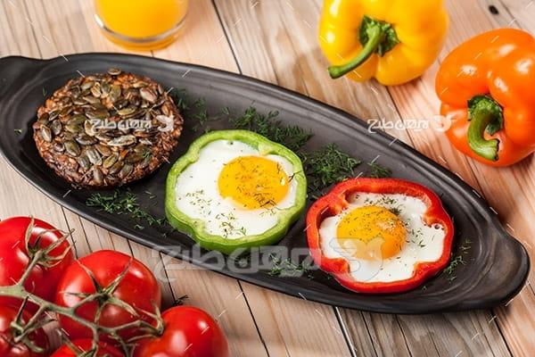 نیمرو و غذای تخم مرغ