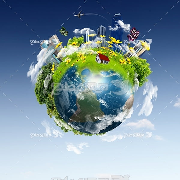 عکس کره زمین وطبیعت