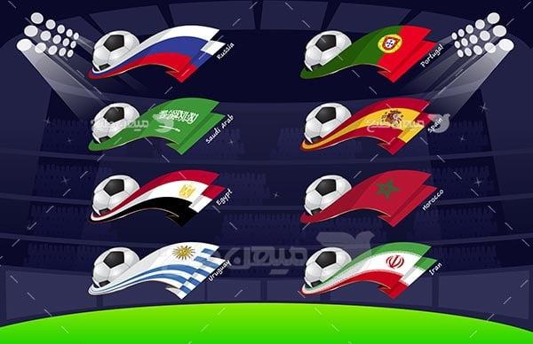 وکتور بازی های تیم ملی فوتبال ایران