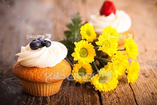 خامه، کیک و شیرینی و گل