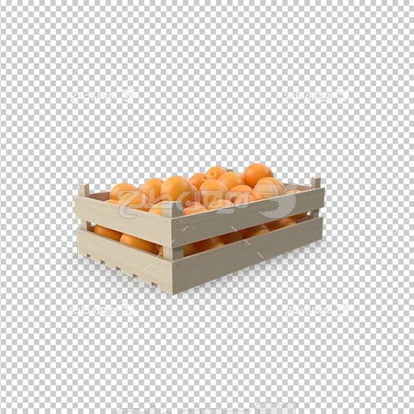 تصویر دوربری سه بعدی جعبه پرتقال