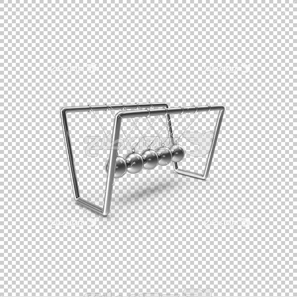 تصویر سه بعدی دوربری گهواره نیوتن